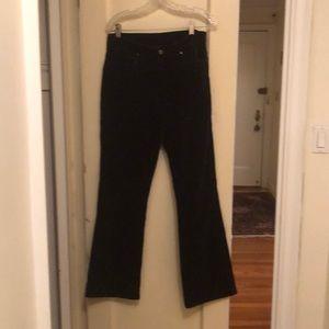 Jones black velveteen 4 pocket jeans style pants